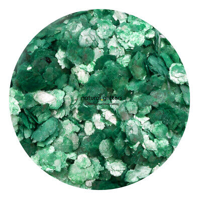 EMERALD GREEN Mica Flakes, ECO GLITTERS, ideal for craft - resin, paper etc.