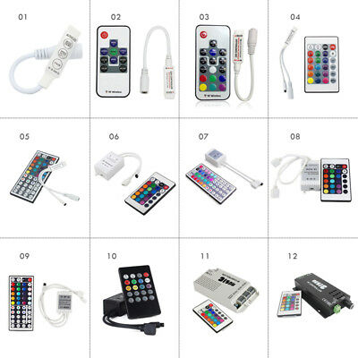17/24/44 Key IR/RF Remote Controller Receiver Kit for 5050/3528 RGB LED Strips