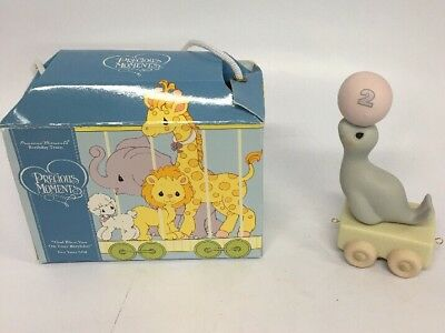 "Precious Moments Birthday Train  ""Bless You On Your Birthday"" 2 Year Old New NIB"
