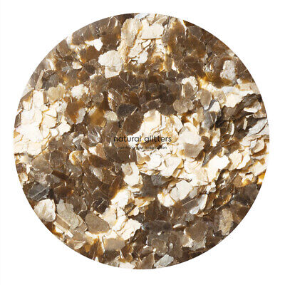 GOLD Mica Flakes, ECO GLITTERS, ideal for craft - resin, paper etc.