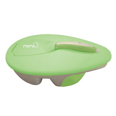 Momo Baby Child Travel Food Snack Plastic Container Bowl and Spoon Set - Green