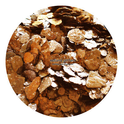 BRONZE Mica Flakes, ECO GLITTERS, ideal for craft - resin, paper etc.