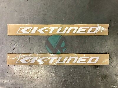 """2 / two Original K Tuned Sticker Decals approx: 12"""" x 1.5"""""""