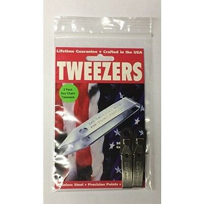 2 Pack Uncle Bills Sliver Gripper Precision Key Chain Tweezers