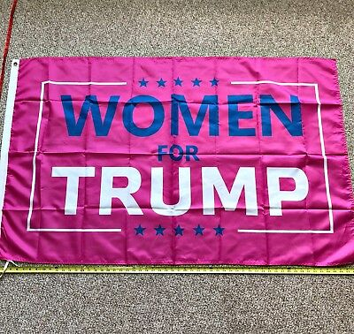 Donald Trump Flag FREE SHIPPING WOMEN for Trump 3x5 Foot Make America Great Pink