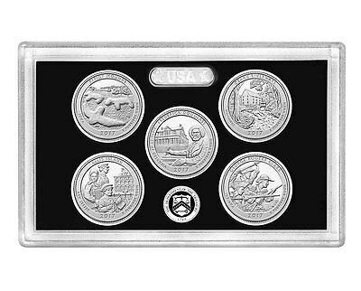 2017-S Park Quarter SILVER Proof Set-No Box, No COA  / Same Day Shipping
