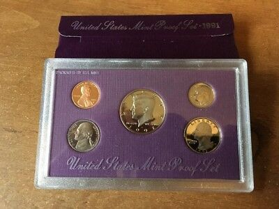 1991-S United States Mint Proof (5) Coin Set