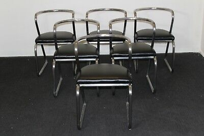 Vintage 1930's Streamlined Art Deco Hoffman Rohde Weber Dining Chairs