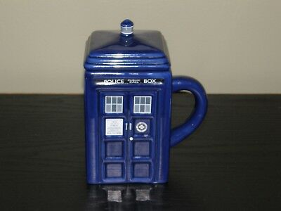 Dr. Who Police Public Call Box - Blue Phonebooth - Ceramic Mug/ Lid ZEON