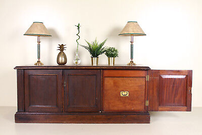 Antique Sideboard Mahogany Lowboard French Haberdashery Carved Console Cabinet