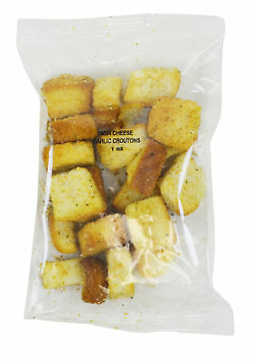 Homestyle Sugar Foods Cheese and Garlic Croutons Case 1oz (PACK OF 100)
