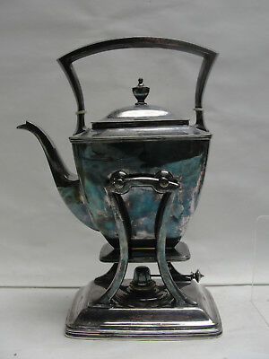 Antique PAIRPOINT Silverplate 0315 - Tilt TEAPOT with Stand and Burner