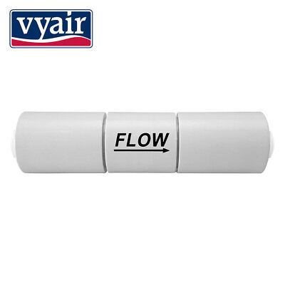 "VYAIR 1/4"" QC Flow Restrictor for RO Systems: 300, 420, 550, 800, 1500, 1800"