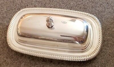 Vintage Silver Plate 3 Piece Butter Dish With Glass Insert, Very Nice