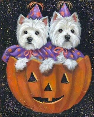 Westie Halloween Garden Flag  Free Ship Usa Rescue