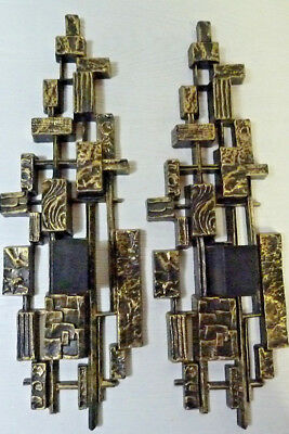 1974 Mid Century Modern Dart Industries Wall Mount Candle Holders