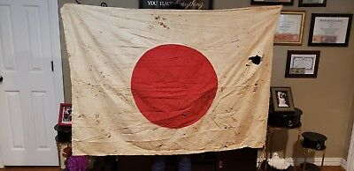 Vintage Original WWII Japanese ●  BIG RARE FLAG ●Vet Bring Back Estate