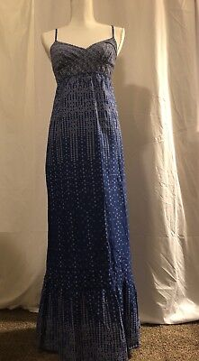 509e9d599ba American Eagle California maxi blue and white Spring Summer dress