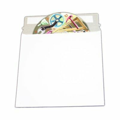 """Large White Cardboard CD Mailer  6"""" X 6-3/8"""" with Adhesive Flap - 50 P"""