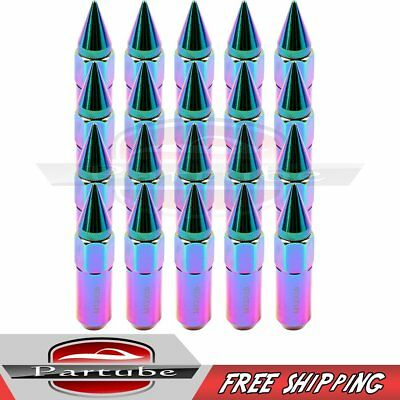 20 x Aluminum  Lug Nut M12X1.5 Cap Spiked Extended Tuner 60mm For Honda Civic