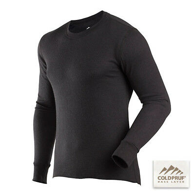 COLDPRUF® Base Layer, Men's Basic™ Crew MEDIUM/TALL Black 90E MD BK Thermal Wear
