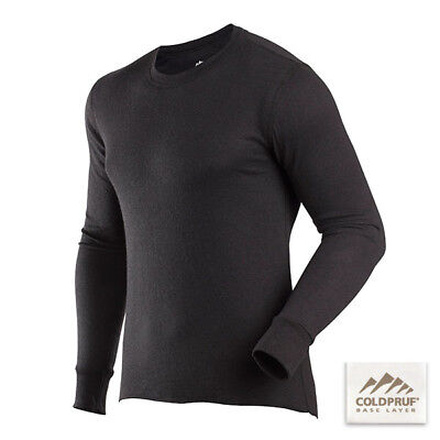 COLDPRUF® Base Layer, Men's Basic™ Crew LARGE/TALL Black 90E LG BK Thermal Wear