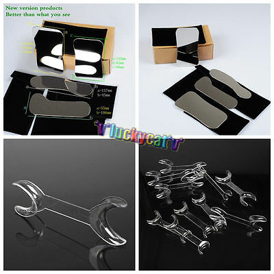 4Pcs Orthodontic Dental Clinic photography Mirror +5L+5S Double Head Mouth Opene