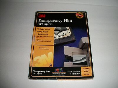 3M Transparency Film for Copiers for 8.5 x 11 Paper 75 Sheets PP2500 - OPEN BOX