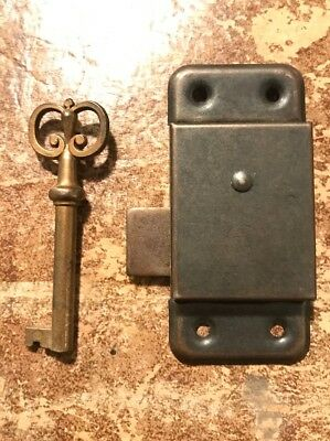 Vintage Cabinet Cupboard Door Drawer Lock With Key