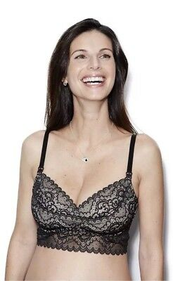 6c1e6c61d02cb NWT The Dairy Fairy Ayla Underwire Nursing and Hands-Free Pumping Bra Black