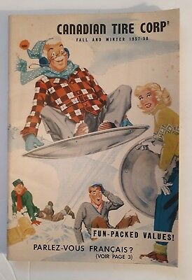 "Rare ""canadian Tire Corp. 1957- 58 Fall And Winter"" Catalogue - Excellent"