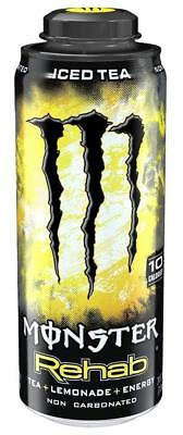 New Monster Rehab Iced Tea Lemonade Energy Drink 24 Fl Oz 1 Can Per Purchase