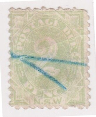 (K117-44) 1891 NSW 2d green postage due (AS)