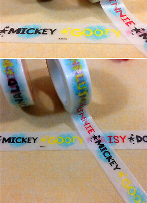 Name Mickey Donald Daisy more 1.5cm X 7m Washi Tape DIY Scrapbook Album Diary