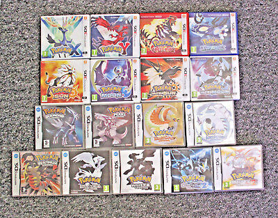 Nintendo Ds 3Ds Pokemon Genuine Cases Heartgold Black White 2 X Y Ultra Sun Moon
