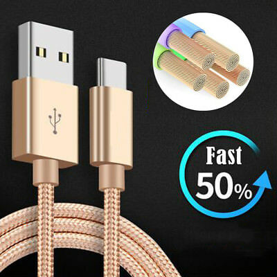 6FT USB Type C Data Sync Charger Charging Cable For Samsung Galaxy S9 Plus Note