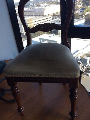 Victorian chair c1880 dining or bedroom casual chair antique original