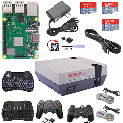 Raspberry Pi 3 Model B+ B Plus NESPi Case+ RetroPie Game Kit(Lot)  Power & HDMI