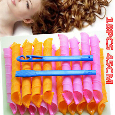 18pcs 55cm Long Curlers for Hair Styling Hair Rollers Hot Easy Home Tools