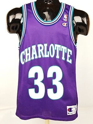 ... best price vintage champion alonzo mourning charlotte hornets jersey  size 36 90s nba e2088 f7bfb 8162dead6