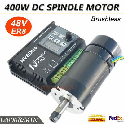 CNC Router 400W Spindle Motor DC Brushless ER8 Collet 12000RPM,Driver Controller