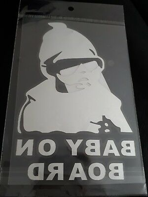 Aufkleber Baby on Board silber Kind an Bord Hangover Sticker Auto Tuning Tour