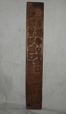 rare Antique German Black-Forest-Wood-Carving-Springerle-Cookie-MOLD,two sided