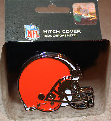 NEW team logo CLEVELAND BROWNS chromed metal HITCH COVER trailer