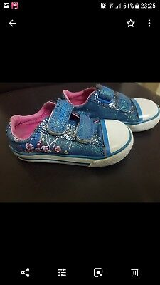 Clarks girls blue Shoes size 5 F
