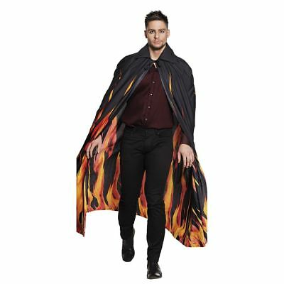 Adult Inferno Flame Cape Halloween Devil Vampire Fancy Dress Accessory