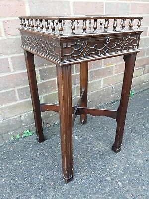 Attractive Antique Style Mahogany Side Hall Table