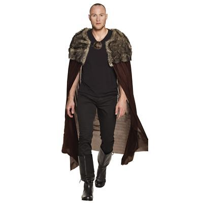 Adults Night Hunter Fur Cape Game Of Thrones Fancy Dress Costume Accessory