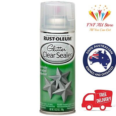 Rust-Oleum 290g Glitter Spray Paint Provides An Intense Sparkling Finish- Clear