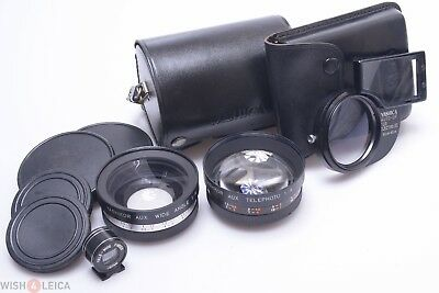 Yashica Electro 35 Auto-Up, Yashikor Wide Angle, Telephoto & Tele Wide Finder